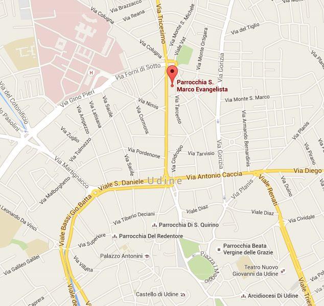 Mapka Kosciol Sw Marka w Udine 2
